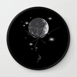 Climbing to the moon Wall Clock