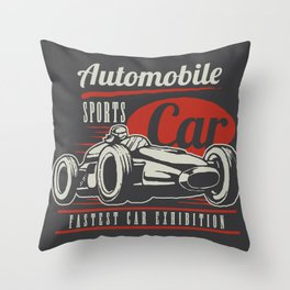 Indy car racing Throw Pillow