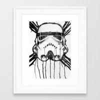 storm trooper Framed Art Prints featuring storm trooper by ErDavid