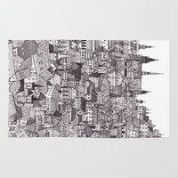 prague Area & Throw Rugs featuring Prague by Justine Lecouffe