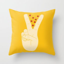 Peace-za Throw Pillow