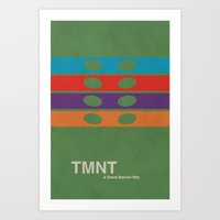 tmnt Art Prints featuring TMNT by Nick Roosen