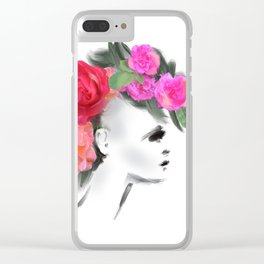 Belle Mohican Clear iPhone Case