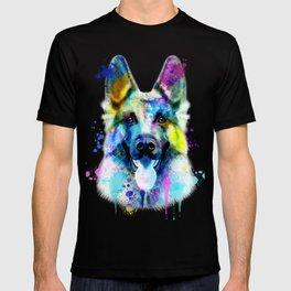 German Shepherd Watercolor, Watercolor Dog print, German Shepherd Print, German Shepherd Art T-shirt