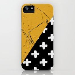 Swiss crosses (grunge) iPhone Case
