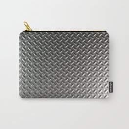 Dirty checkered steel plate Carry-All Pouch