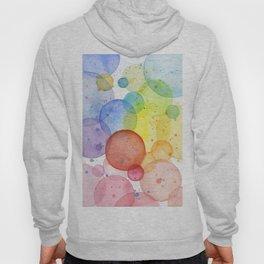 Watercolor Abstract Rainbow Circles and Splatters Hoody
