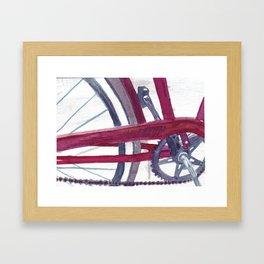 Mom's Red Bike Framed Art Print