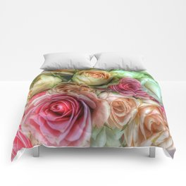 Roses - Pink and Cream Comforters