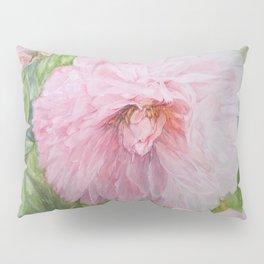 Pink Peonies Watercolor Pillow Sham