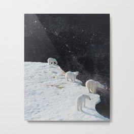 Flat Earth Metal Print
