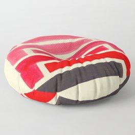Geometric Pattern Watercolor Painting Floor Pillow