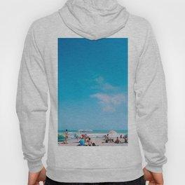 Beach large blue sky Hoody