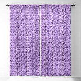 leopard Kitty - purple Sheer Curtain
