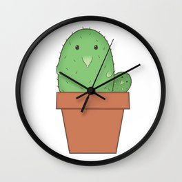 Liitle Hedgehog Cactus in a Pot Wall Clock