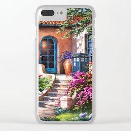 Tardis Art At The Beach House Clear iPhone Case