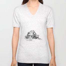 Winter Cottage Ink Unisex V-Neck