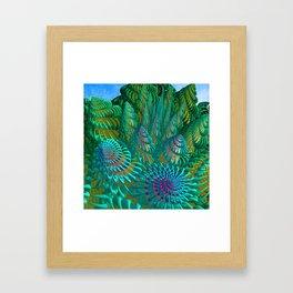 3D seashells artwork Framed Art Print