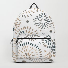 Abstract watercolor sparkles – neutral Backpack