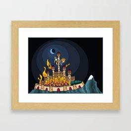 Burning Lanka Framed Art Print