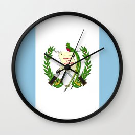Guatemala flag emblem Wall Clock