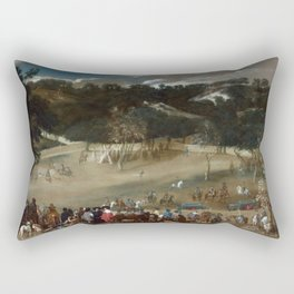 Diego Velázquez - Philip IV hunting Wild Boar (La Tela Real) Rectangular Pillow