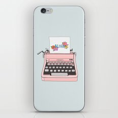 Aloha typewriter iPhone & iPod Skin