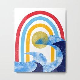 Abstract Retro  Metal Print