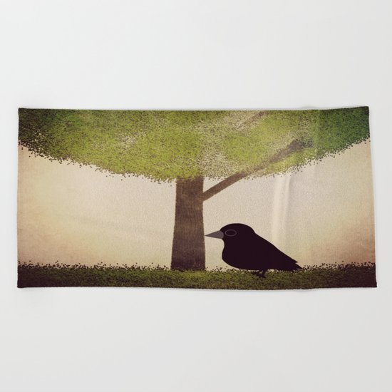 Crow-884 Beach Towel