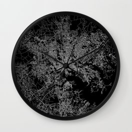 Baltimore map Maryland Wall Clock