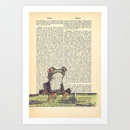 Frog-E-Doodle Art Print