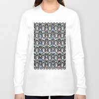 foxes Long Sleeve T-shirts featuring Foxes by Veronique de Jong