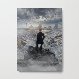 Wanderer above the Sea of Trash Metal Print