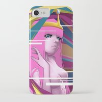 princess bubblegum iPhone & iPod Cases featuring Princess Bubblegum by Kimball Gray