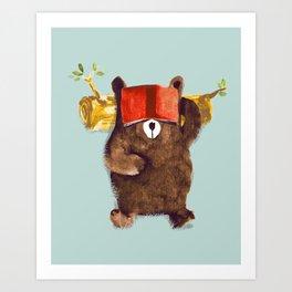 No Care Bear - My Sleepy Pet Art Print