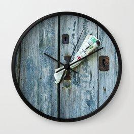 Italian News Wall Clock