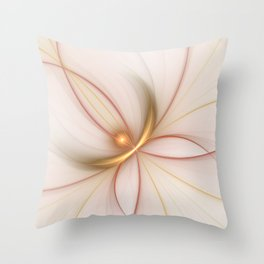 Nobly In Gold And Copper, Fractal Art Throw Pillow