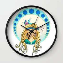 Moon lady - Art Nouveau style Wall Clock