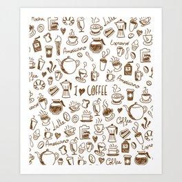 Coffee is my fuel! Art Print