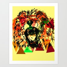 Panthera Leo Art Print