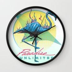 Paradise Unlimited Wall Clock
