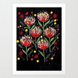 Protea Magic Art Print