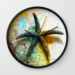 Starfish Impression Wall Clock