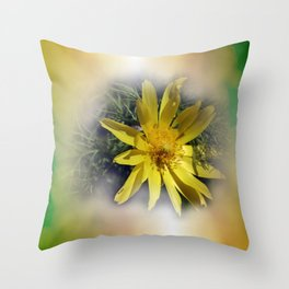 some yellow sign of spring Throw Pillow