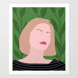 Tropical Robyn Art Print