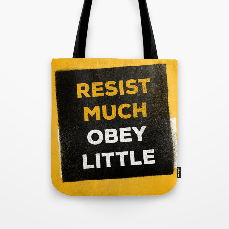 5035afcb6 Resist much obey little Tote Bag by warlockpie | Society6