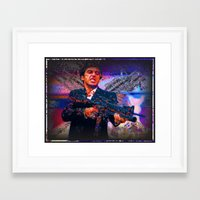 scarface Framed Art Prints featuring scarface by Vector Art