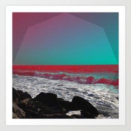 Briny-Blu Art Print