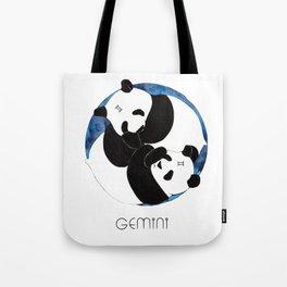 Panda Zodiac Gemini Tote Bag