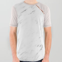 Peony blush geometric marble All Over Graphic Tee